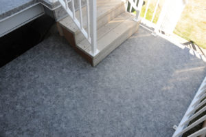 Duradek Vinyl installed on the landing by AV Deck Shop