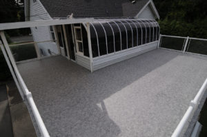 Waterproofed with Duradek by AV Deck Shop