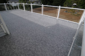 Waterproof Duradeck deck on River Road in Port Alberni