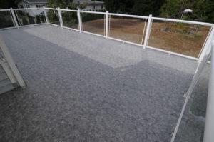 Waterproof Duradeck deck on River Road in Port Alberni