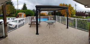 Duradek vinyl and new custom railings