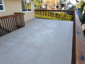 Duradek Vinyl waterproofs this good sized deck in Ucluelet