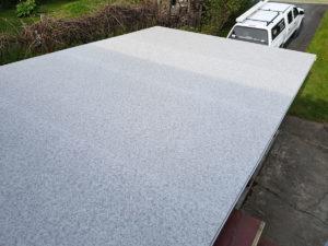Large deck, Duradek vinyl, railings