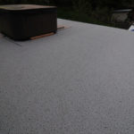 Large deck, waterproofed with Duradek Commercial Series vinyl