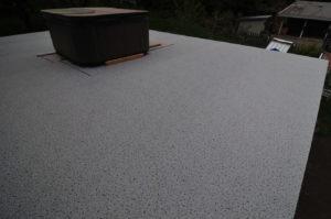 Large deck, waterproofed with Duradek Commercial Series vinyl