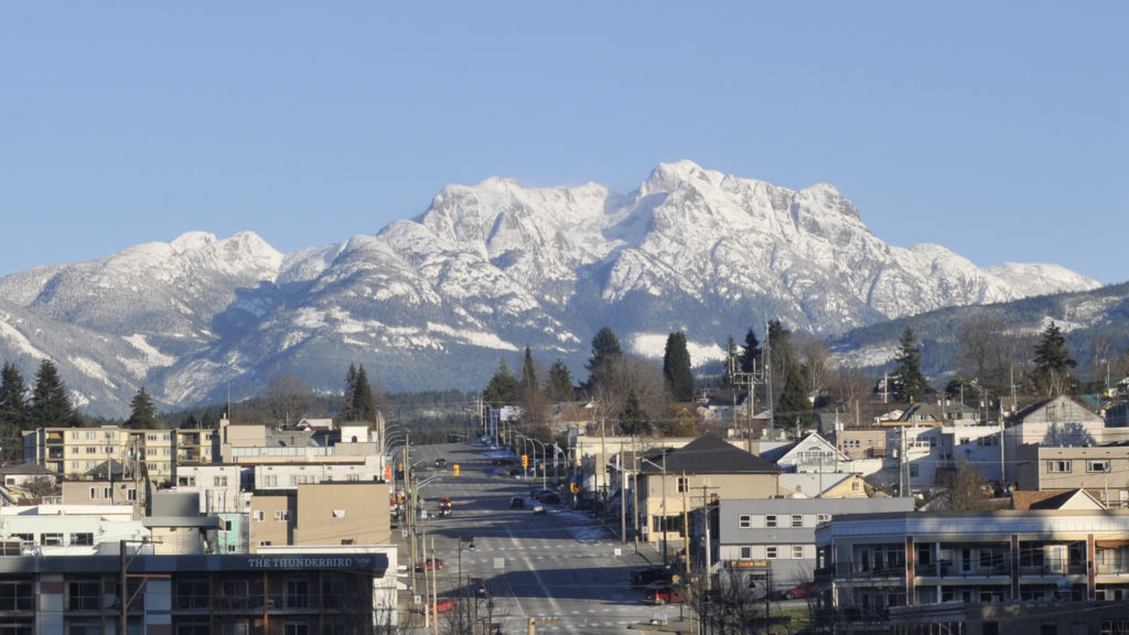 Mount Arrowsmith in winter